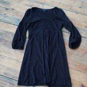 Boden black pintuck Jersey dress 8